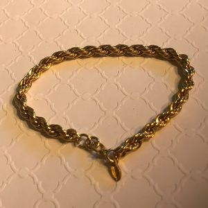 Monet goldtone rope bracelet